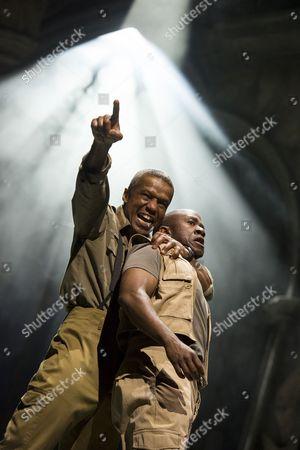 Hugh Quarshie as Othello, Lucian Msamati as Iago