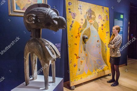 Holy Virgin Mary by Chris Ofili (est £1.5-2m) and Baga Shoulder Mask (Euro 1.5-2.5m)