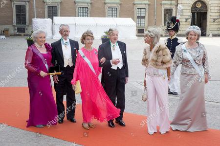 Princess Christina, Tord Magnuson, Princess Desiree, Niclas Silfverschiold, Princess Birgitta, Princess Margaretha of Liechtenstein