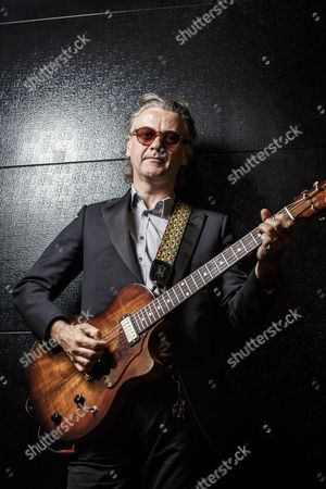 Amsterdam Netherlands - May 5: Portrait Of English Musician Guy Chambers Photographed Before A Live Performance With Robbie Williams At The Ziggo Dome In Amsterdam On May 5 2014. Chambers Is An Award-winning Guitarist And Songwriter Working With Acts Such As Rufus Wainwright And Kylie Minogue