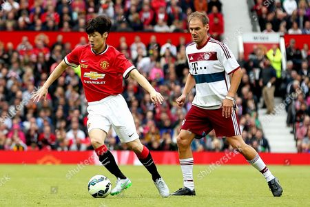 Stock Image of Ji-Sung Park in action