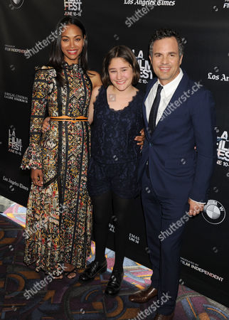 Zoe Saldana, Imogene Wolodarsky and Mark Ruffalo