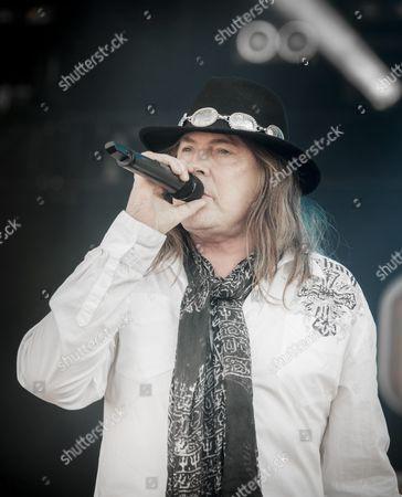 Dokken performing at Sweden Rock Festival 2015. Vocalist Don Dokken