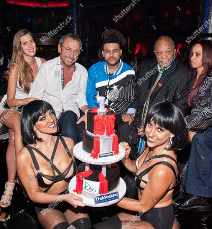 Victor Drai, The Weeknd and Quincy Jones