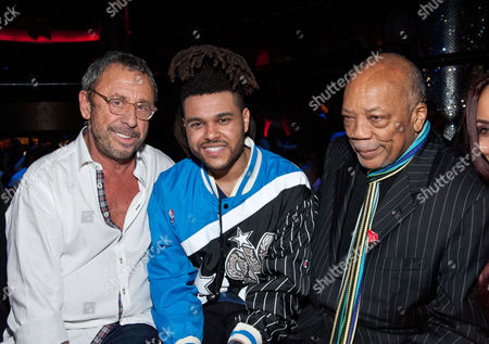 Stock Photo of Victor Drai, The Weeknd and Quincy Jones