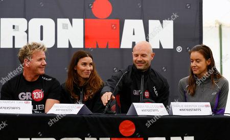 Gordon Ramsay, Tania Ramsay, Danny Mills and Charlie Webster.