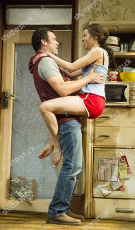 Stock Image of Flor De Liz Perez as Veronica, Ricardo Chavira as Jackie,