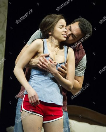 Stock Photo of Flor De Liz Perez as Veronica, Ricardo Chavira as Jackie,