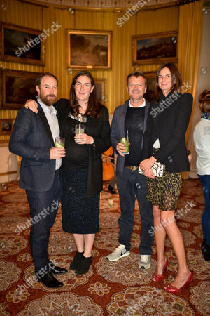 Stock Picture of Rebecca Guinness and husband with Matthew Donaldson and Claudia Donaldson