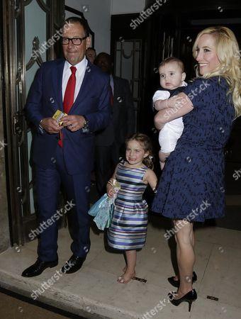 Richard Desmond, Joy Canfield and children