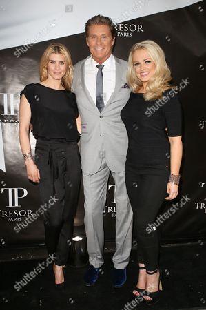 Stephanie Webber, David Hasselhoff and Kim Tiddy