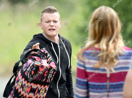 Editorial photo of 'Hollyoaks' TV series on location filming, Liverpool, Britain - 16 Jun 2015