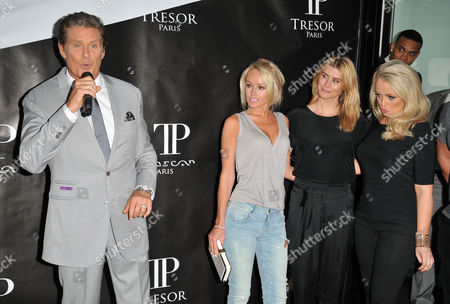 David Hasselhoff, Hayley Roberts, Kim Tiddy and Stephanie Webber