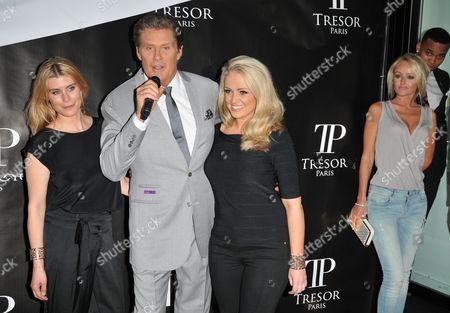 Kim Tiddy, David Hasselhoff, Stephanie Webber and Hayley Roberts