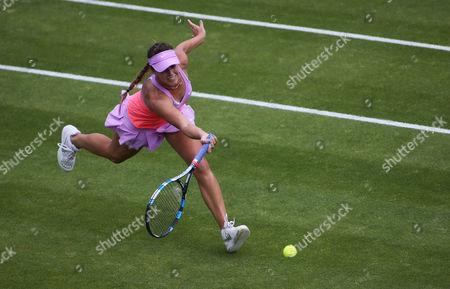 Michelle Larcher De Brito during the first set.