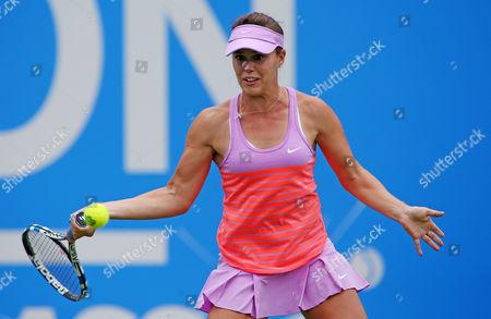 Michelle Larcher De Brito of Portugal during the third set.
