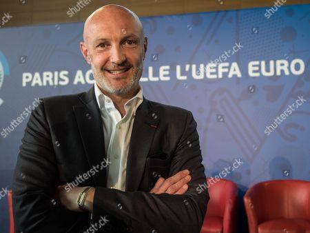 Former football player Franck Leboeuf