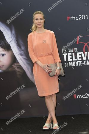 Moa Gammel poses for a photocall for TV series 'The Night Shift'