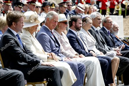 Camilla Duchess of Cornwall, Prince Charles, Princess Astrid, Countess Stephanie de Lannoy, Hereditary Grand Duke Guillaume of Luxembourg of Luxembourg