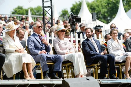 Camilla Duchess of Cornwall, Prince Charles, Princess Astrid Countess Stephanie de Lannoy, Hereditary Grand Duke Guillaume of Luxembourg of Luxembourg
