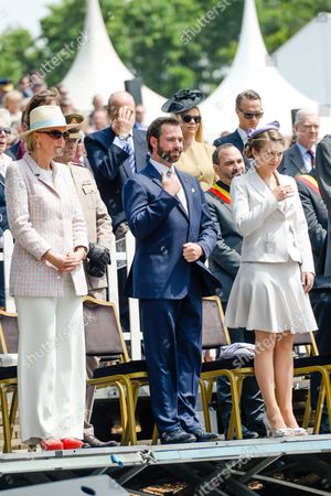 Princess Astrid, Countess Stephanie de Lannoy, Hereditary Grand Duke Guillaume of Luxembourg of Luxembourg
