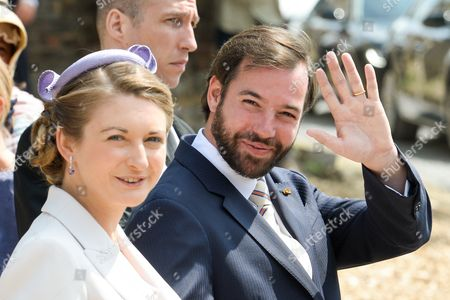 Countess Stephanie de Lannoy and Hereditary Grand Duke Guillaume of Luxembourg of Luxembourg