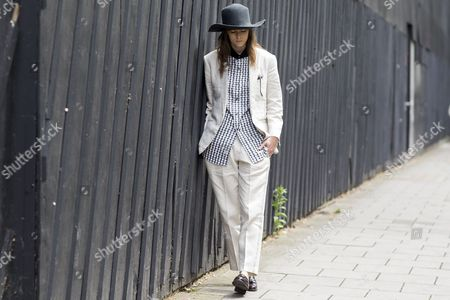 Editorial photo of Street Style at London Collections: Men, Spring Summer 2016, London, Britain - 14 Jun 2015