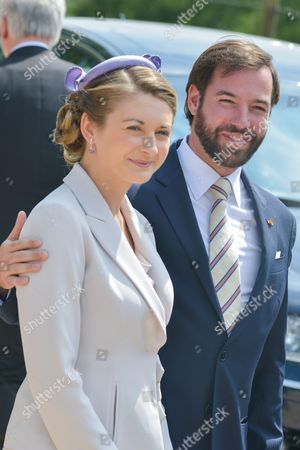 Stock Picture of Countess Stephanie de Lannoy and Hereditary Grand Duke Guillaume of Luxembourg of Luxembourg