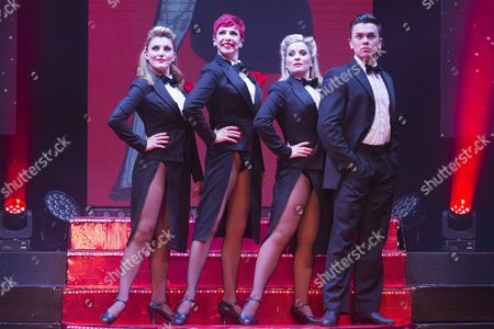 L-R. Georgina Hagen, Rachel Stanley, Louise Dearman and Ray Quinn.