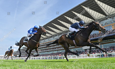 (R) Curvy (Ryan Moore) wins The Ribblesdale Stakes from (L) Pleascach (Kevin Manning) on Ladies Day @ Royal Ascot. 18.6.15. Pic: Hugh Routledge