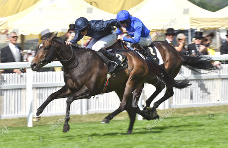 Curvy (Ryan Moore) wins The Ribblesdale Stakes from (R) Pleascach (Kevin Manning) on Ladies Day @ Royal Ascot. 18.6.15. Pic: Hugh Routledge