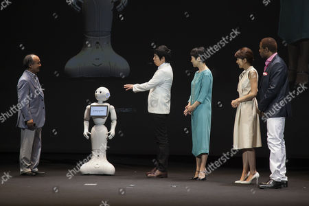 Editorial picture of SoftBank press conference, Chiba, Japan - 18 Jun 2015