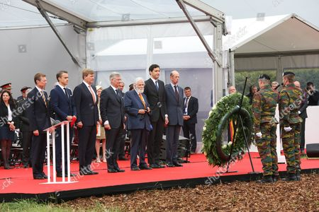 Grand Duke Henri of Luxembourg, Arthur Wellesley Hunter, Duke of Wellington, King Willem-Alexander, King Philippe, Prince Nikolaus Furst Blucher von Wahlstatt, Prince Jean-Christophe Napoleon Bonaparte, Duke of Kent