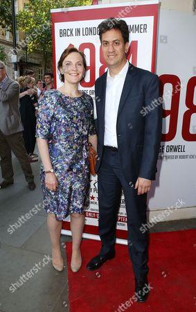 Stock Image of Ed Miliband and Justine Thornton