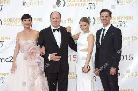 Stock Picture of Zoe McLellan, Prince Albert II of Monaco, Elisabeth Harnois and Brian Dietzen