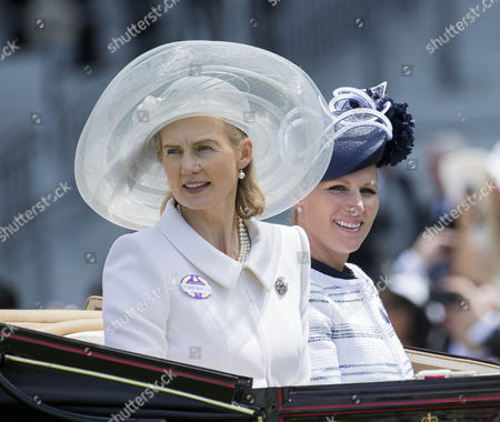 Lady Mary Soames and Zara Tindall