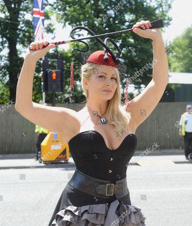 Victoria Eisermann takes part in animal protest
