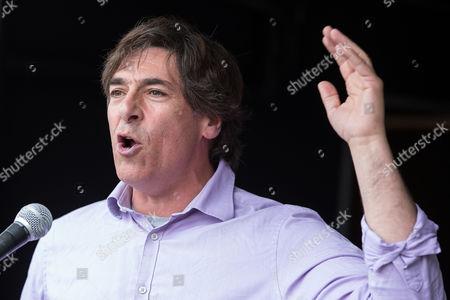 Mark Steel Speaking in Parliament Square