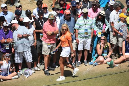 LPGA player commentating for Fox Sports Network Natalie Gulbis following Rory Mcllroy's final Round