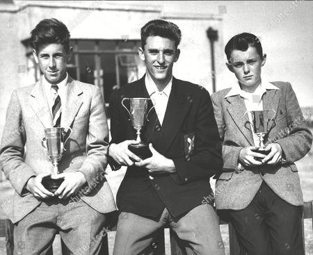 Boys Golf Championship At Dunbar Golf Course Left To Right Marshall Reid Junior Trophy Winner D W Alexander Senior Trophy Winner And David Gow Junior Trophy Winner. Box 0582 120615 00439a.jpg.