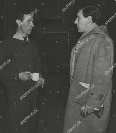 Edward Goring (right) Daily Mail Journalist Talking To Peter Newman Author Of 'yesterday's Enemy'. Box 0583 150615 00282a.jpg.