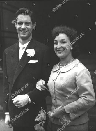 Ken Haward Actor With His Bride Actress Barbara Ashcroft After Their Wedding At Caxton Hall. Box 0586 150615 00488a.jpg.