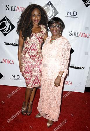 Nzinga Blake with guest
