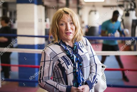 Editorial photo of Kellie Maloney at a Boxing Gym in Birmingham, Britain - 07 May 2015