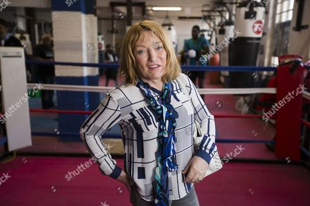 Stock Photo of Boxing promoter Kellie Maloney, formerly Frank, Maloney, pays a visit to a boxing gym in Birmingham. It's the first time she has stepped inside a gym since a gender reassignment operation.