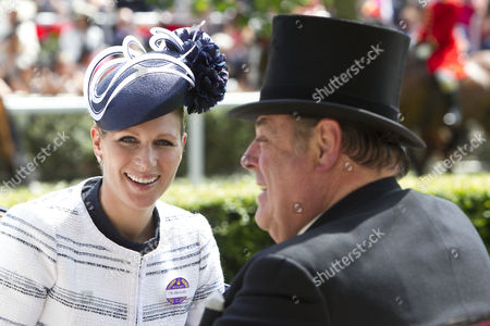 Zara Tindall and Lord Soames arriving by carriage in the Parade Ring