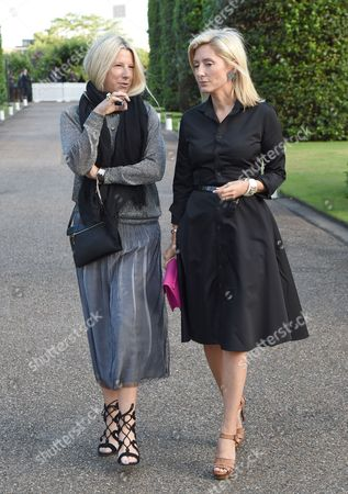 Crown Princess Marie-Chantal of Greece with guest