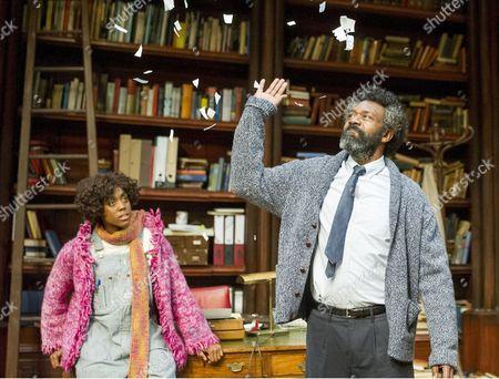 Stock Image of Lenny Henry as Frank, Lashana Lynch as Rita