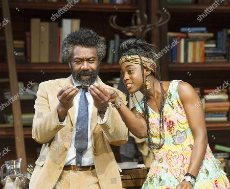 Stock Picture of Lenny Henry as Frank, Lashana Lynch as Rita