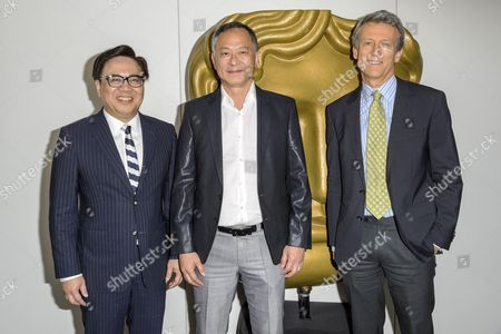 Dr Wilfred Wong Ying-Wai, SBS, JP, Chairman of the Asian Film Awards; Johnnie To ; Duncan Kenworthy, Vice-President of BAFTA